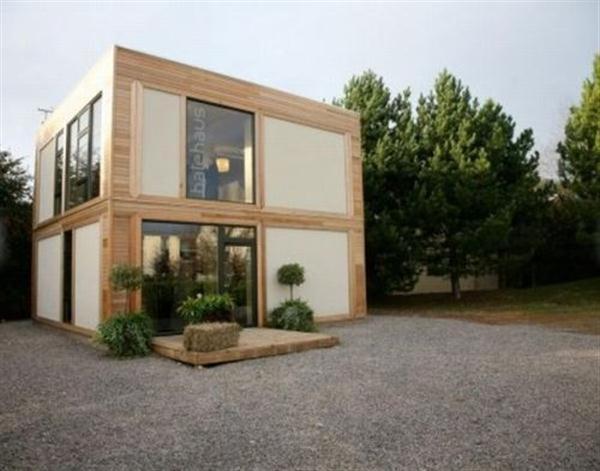 Maison contemporaine bois - forme cube
