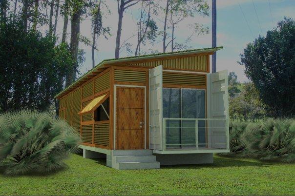 Maison moderne en container